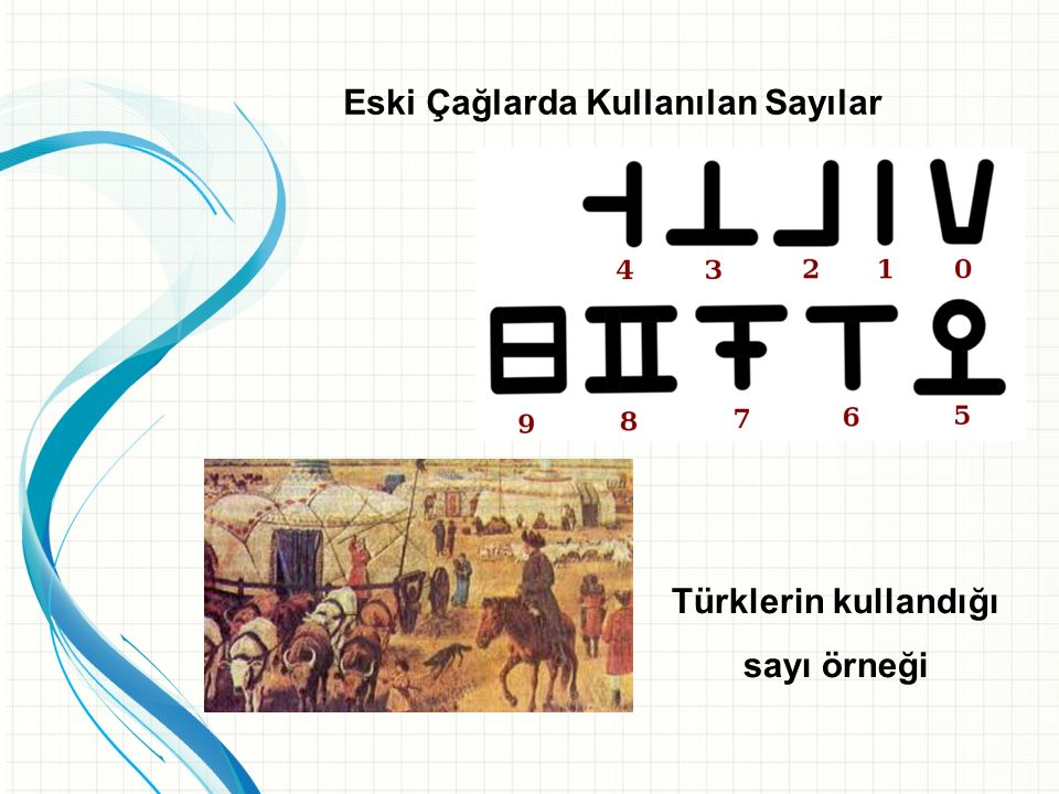 Eski Çağlarda Kullanılan Sayılar Mısırlıların kullandığı sayı örneği