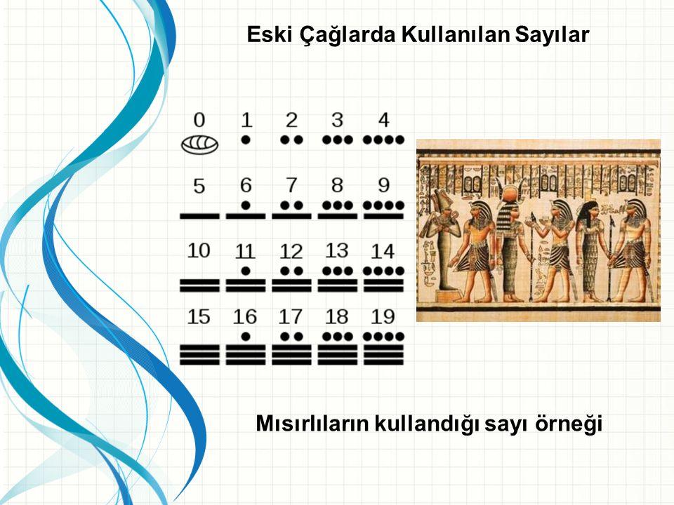 Eski Çağlarda Kullanılan Sayılar Arapların kullandığı sayı örneği