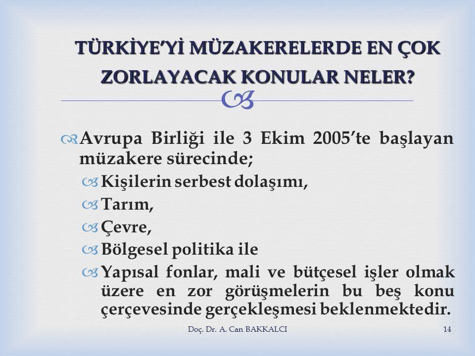  TÜRKİYE'Yİ MÜZAKERELERDE EN ÇOK ZORLAYACAK KONULAR NELER.