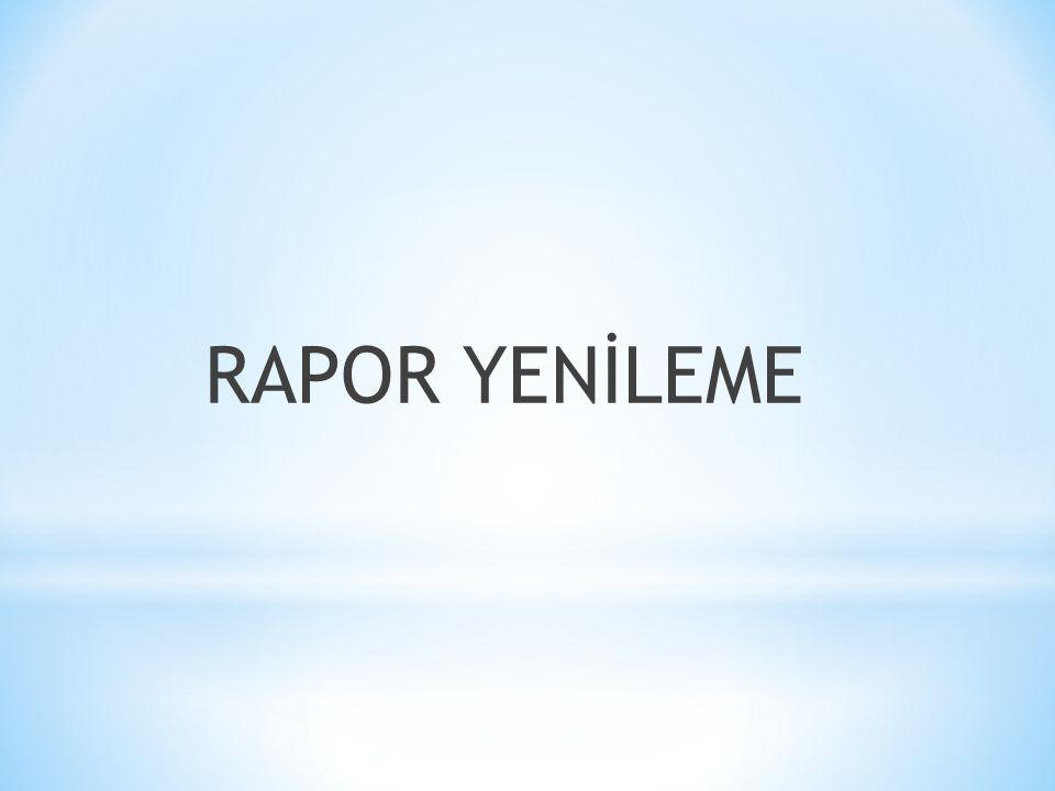 RAPOR YENİLEME