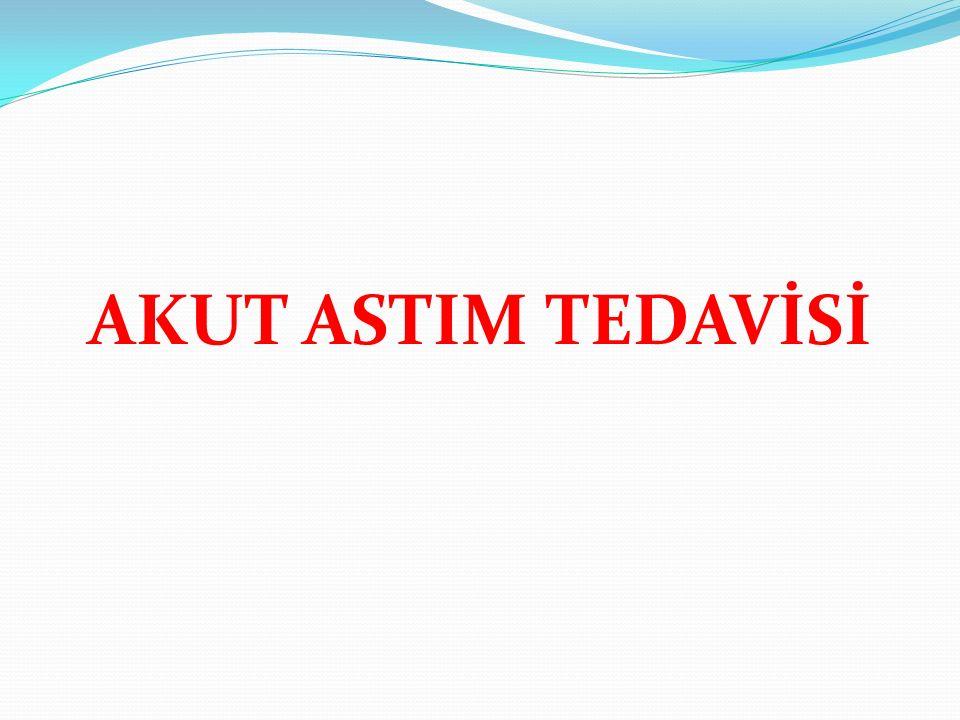 AKUT ASTIM TEDAVİSİ