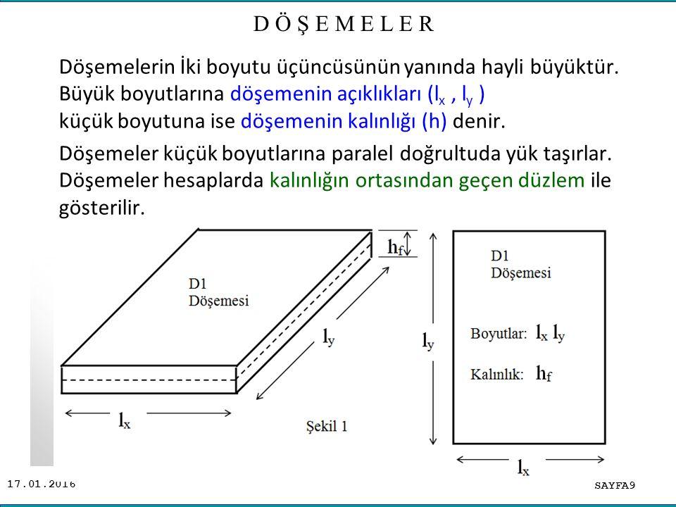 17.01.2016 SAYFA80 ADİL ALTUNDAL BİR DOĞRULTUDA ÇALIŞAN DÖŞEMELER ( HURDİLER ) Döşemenin t/m 2 olan yükün tamamı 1m lik şeritte t/m olarak dikkate alınacaktır.
