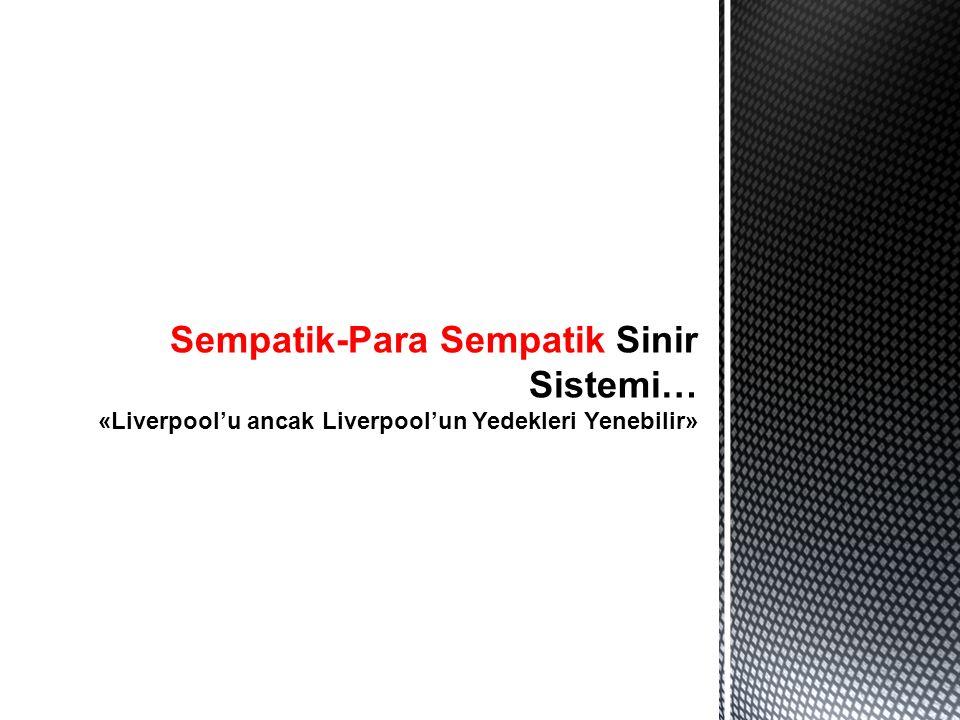 Sempatik-Para Sempatik Sinir Sistemi… «Liverpool'u ancak Liverpool'un Yedekleri Yenebilir»