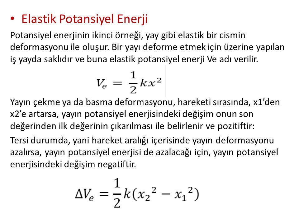 Elastik Potansiyel Enerji Potansiyel enerjinin ikinci örneği, yay gibi elastik bir cismin deformasyonu ile oluşur.
