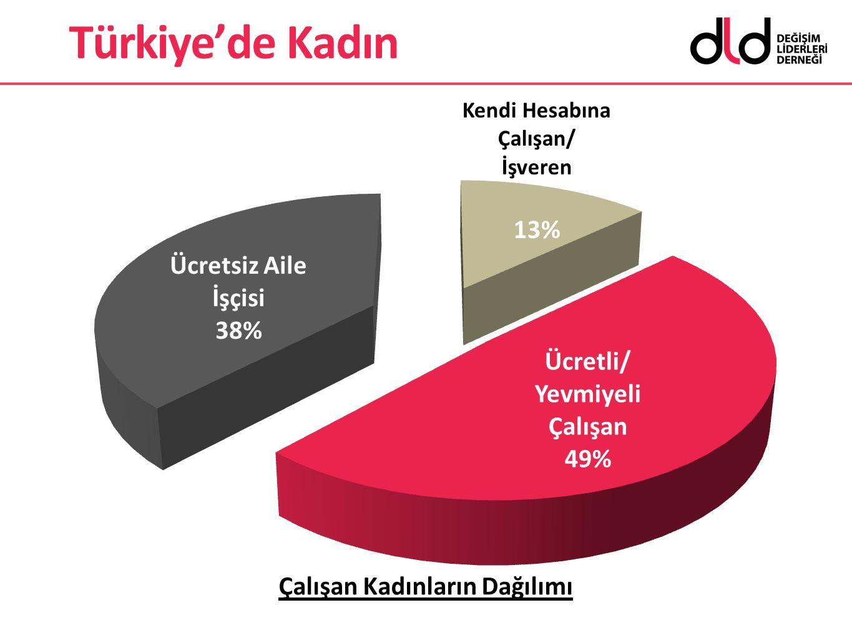 Türkiye'de Kadın Çalışan Kadınların Dağılımı