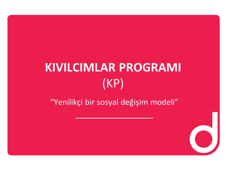 """KIVILCIMLAR PROGRAMI (KP) """"Yenilikçi bir sosyal değişim modeli"""""""