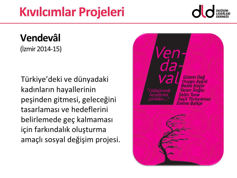 Vendevâl (İzmir 2014-15) Türkiye'deki ve dünyadaki kadınların hayallerinin peşinden gitmesi, geleceğini tasarlaması ve hedeflerini belirlemede geç kal