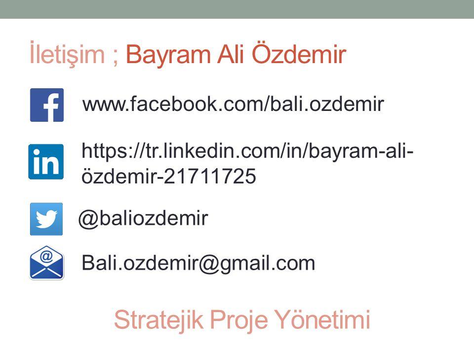 İletişim ; Bayram Ali Özdemir www.facebook.com/bali.ozdemir https://tr.linkedin.com/in/bayram-ali- özdemir-21711725 @baliozdemir Bali.ozdemir@gmail.co