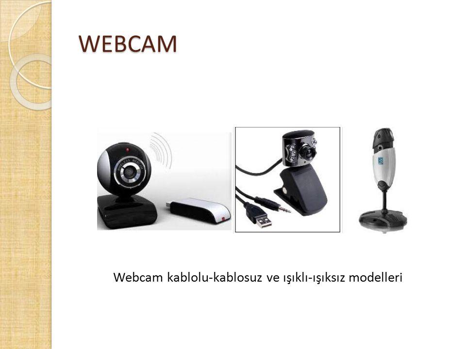 WEBCAM Webcam kablolu-kablosuz ve ışıklı-ışıksız modelleri