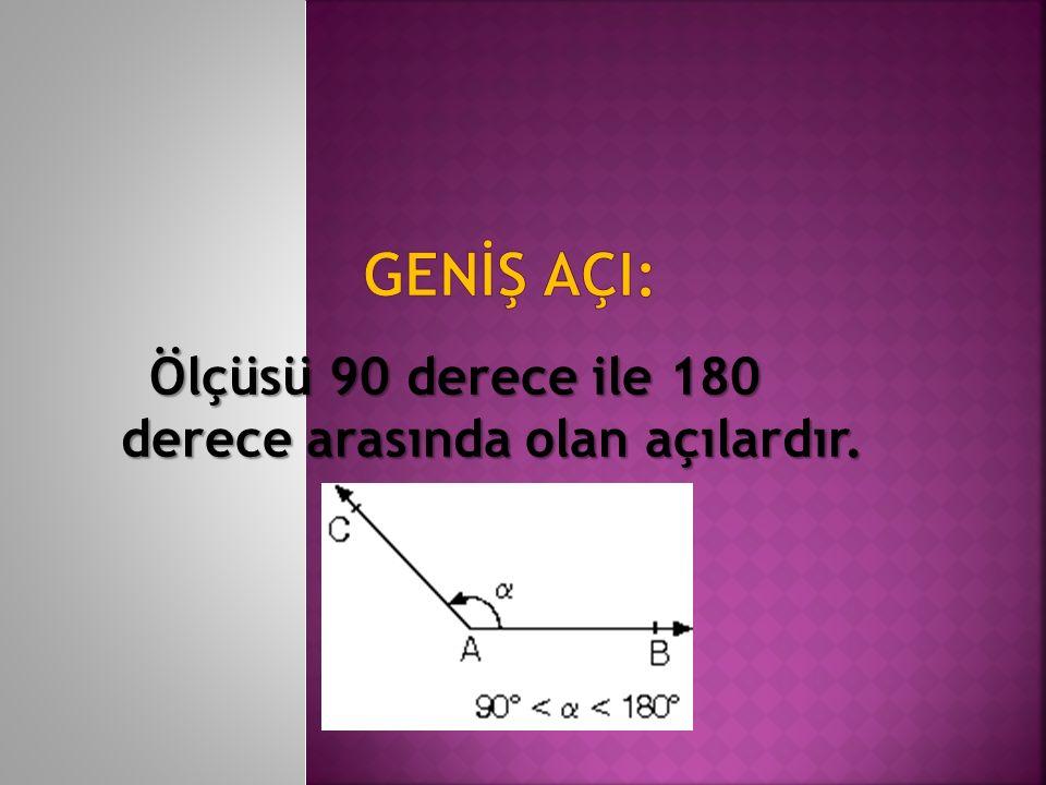 Ölçüsü 90 derece ile 180 derece arasında olan açılardır.