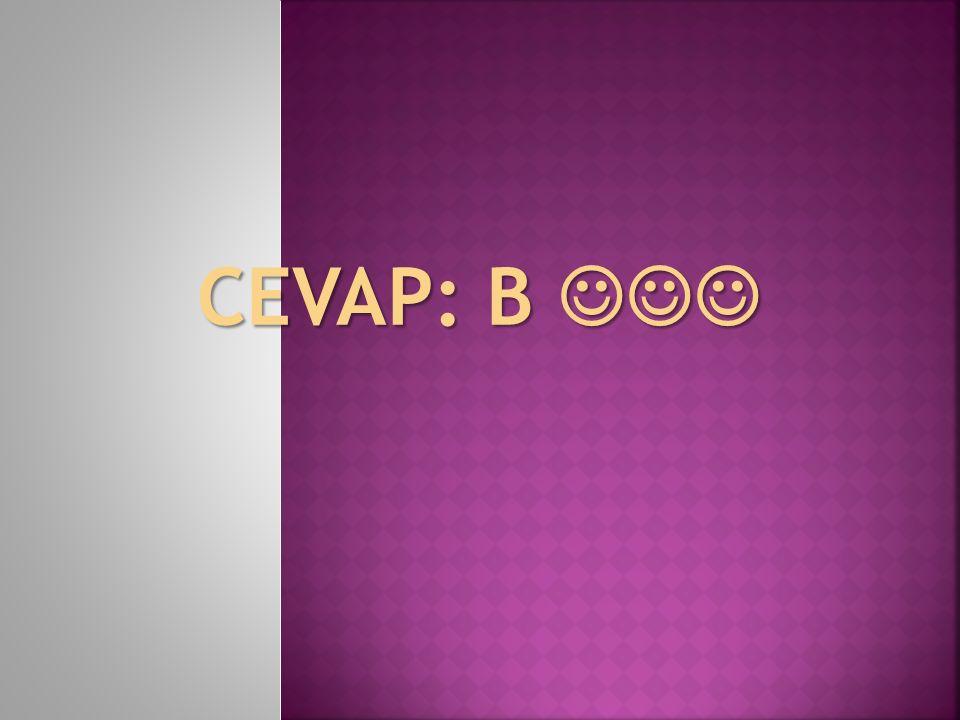 CEVAP: B CEVAP: B