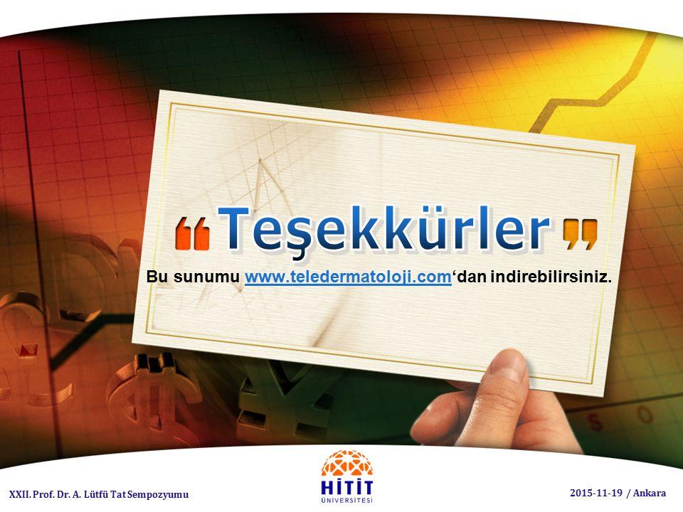 Bu sunumu www.teledermatoloji.com'dan indirebilirsiniz.