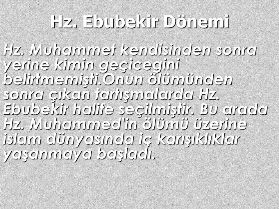 Hulefa-i Raşidin İslam tarihinde, Hz. Muhammedin (SAV) vefatından sonra islam Devleti'nin başına sırasıyla Hz. Ebubekir, Hz. Ömer, Hz. Osman ve Hz. Al