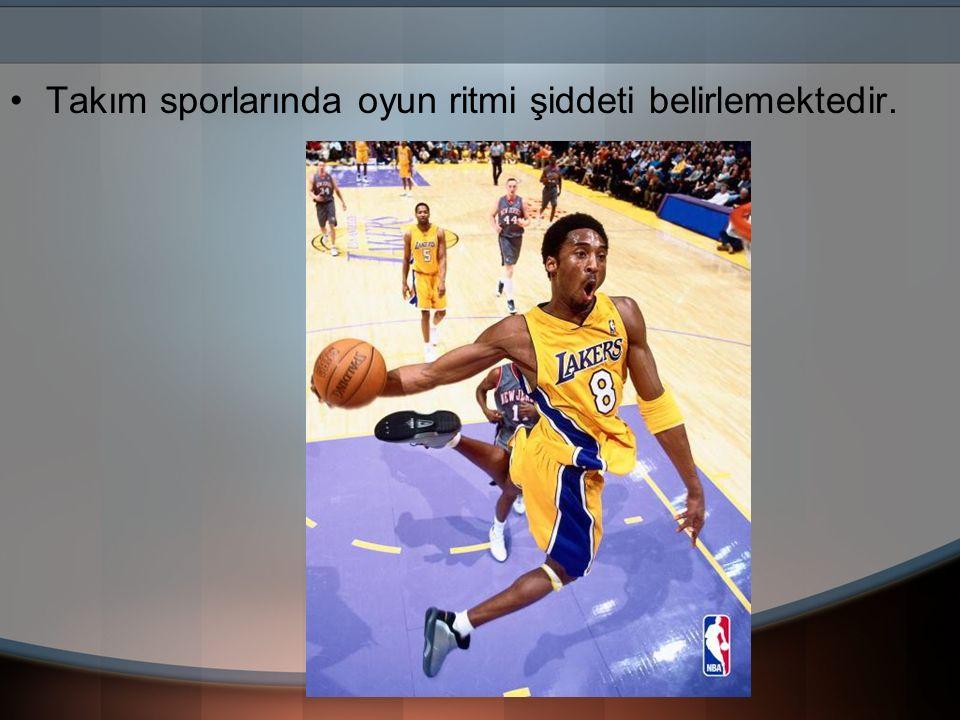 Takım sporlarında oyun ritmi şiddeti belirlemektedir.