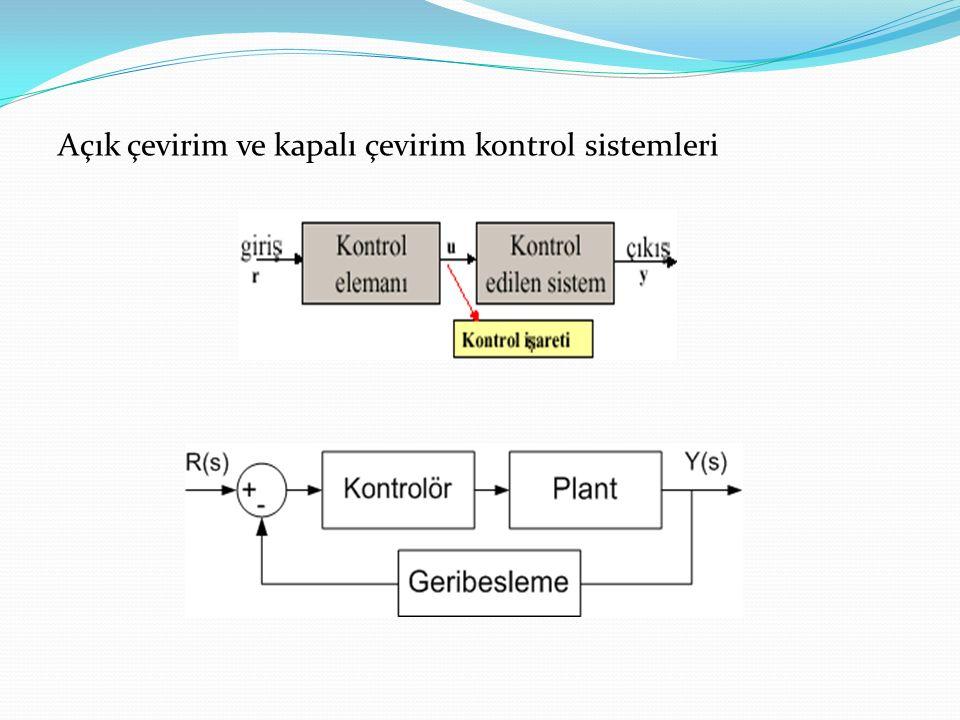 Açık çevirim ve kapalı çevirim kontrol sistemleri