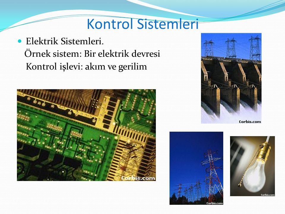Kontrol Sistemleri Elektrik Sistemleri. Örnek sistem: Bir elektrik devresi Kontrol işlevi: akım ve gerilim