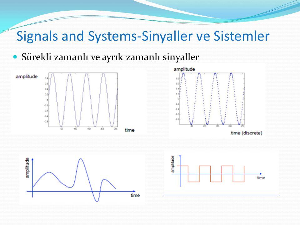 Sürekli zamanlı ve ayrık zamanlı sinyaller