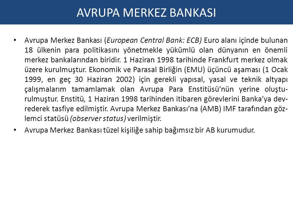 Avrupa Merkez Bankası (European Central Bank: ECB) Euro alanı içinde bulunan 18 ülkenin para politikasını yönetmekle yükümlü olan dünyanın en önemli merkez bankalarından biridir.