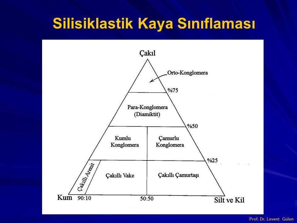 Silisiklastik Kaya Sınıflaması Prof. Dr. Levent Gülen
