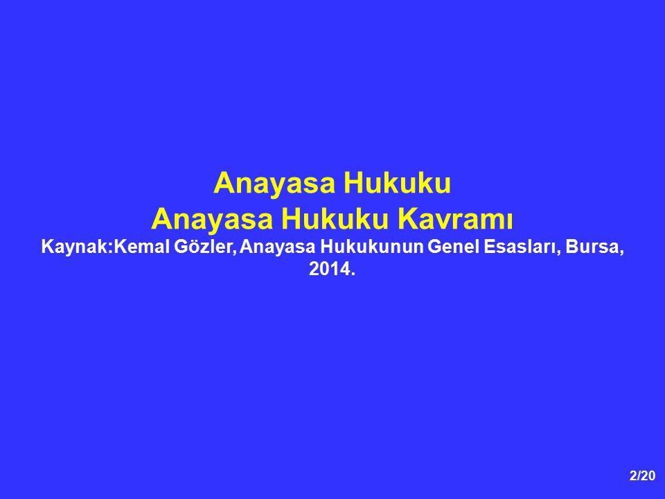 83/59 Hukuk Devleti İlkesi  1982 Anayasasının 2'nci maddesine göre, Türkiye Cumhuriyeti...