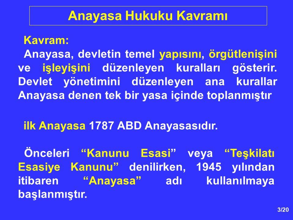 114/39 3.Sınırlama Anayasanın Sözüne ve Ruhuna Uygun Olmalıdır - Bu Anayasa Md.