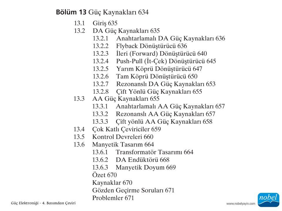 13.3.1 Anahtarlamalı AA Güç Kaynakları