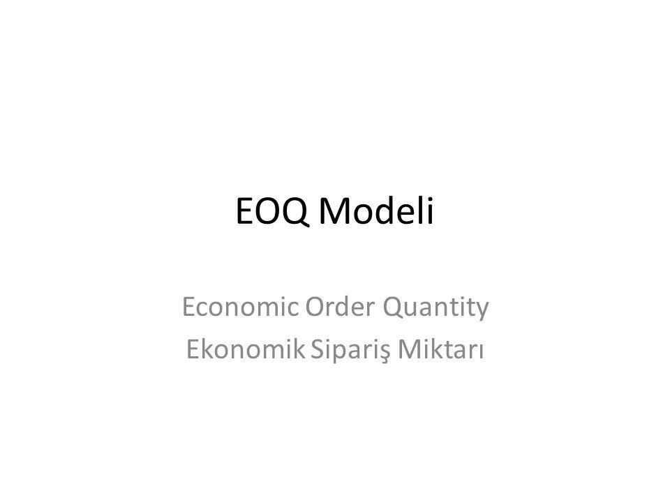 Ekonomik Üretim Miktarı modeli optimal parti büyüklünü belirler.