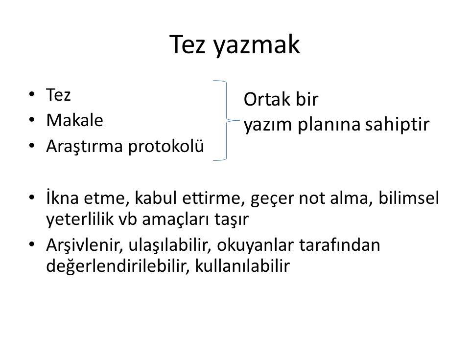 Tez (Dil Derneği Türkçe Sözlük) 1.Sav: 4. man. Tanıtlanması* gereken önerme.
