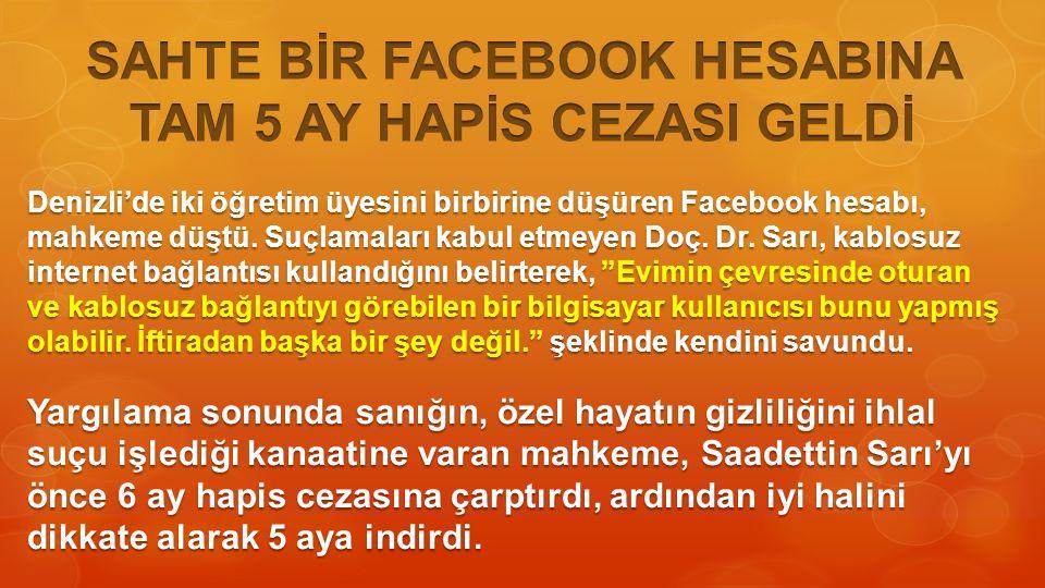 Denizli'de iki öğretim üyesini birbirine düşüren Facebook hesabı, mahkeme düştü.