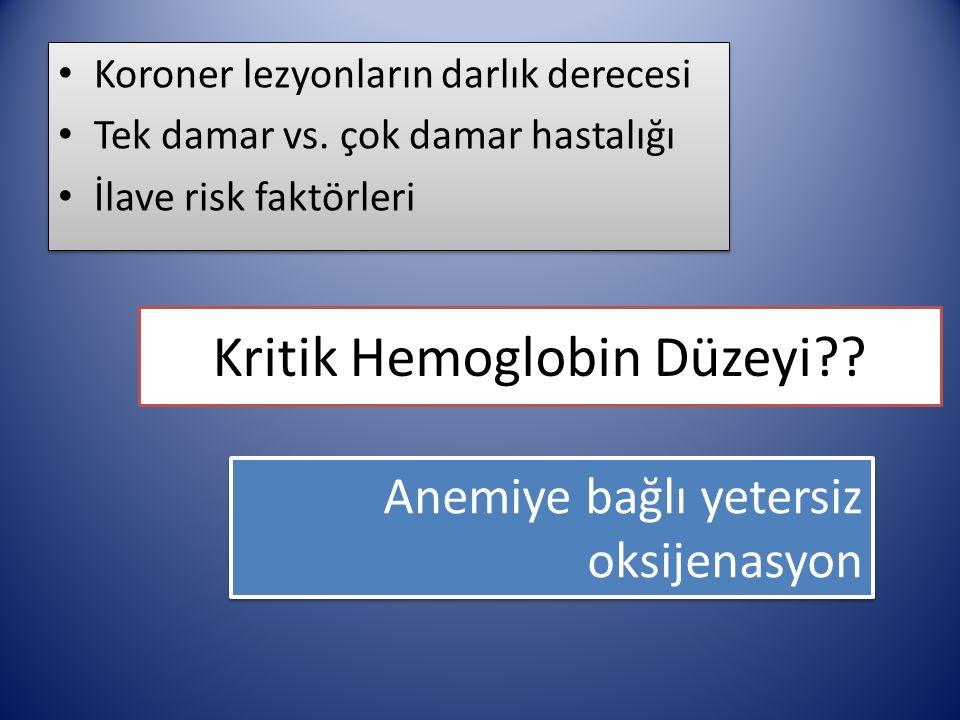 Hemoglobin eşikdeğeri.