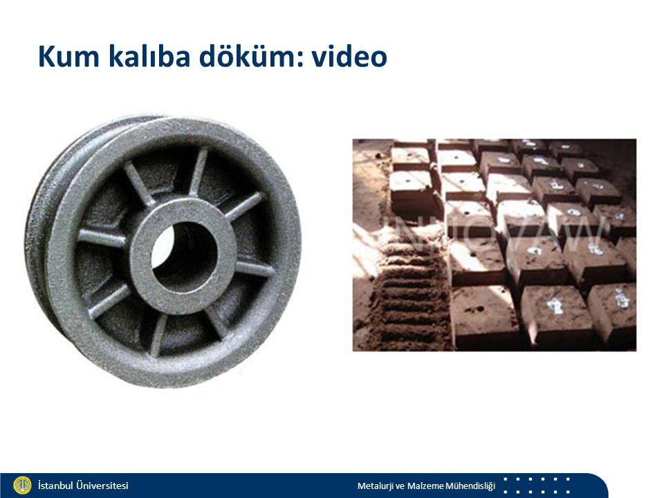Materials and Chemistry İstanbul Üniversitesi Metalurji ve Malzeme Mühendisliği İstanbul Üniversitesi Metalurji ve Malzeme Mühendisliği Kum kalıba döküm: video