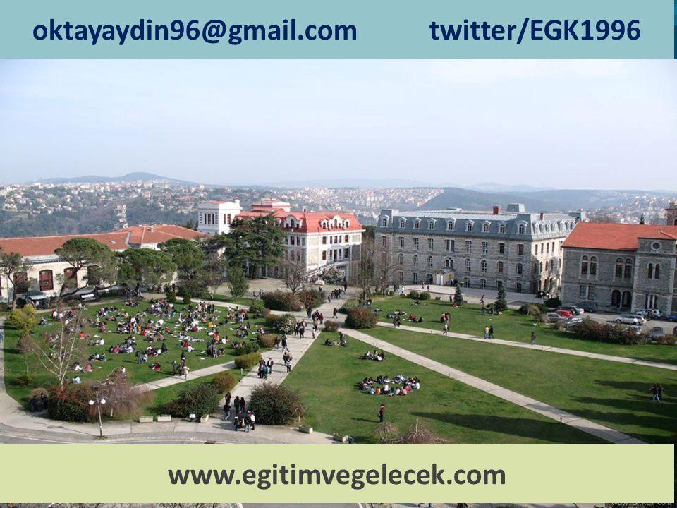 oktayaydin96@gmail.com twitter/EGK1996 www.egitimvegelecek.com