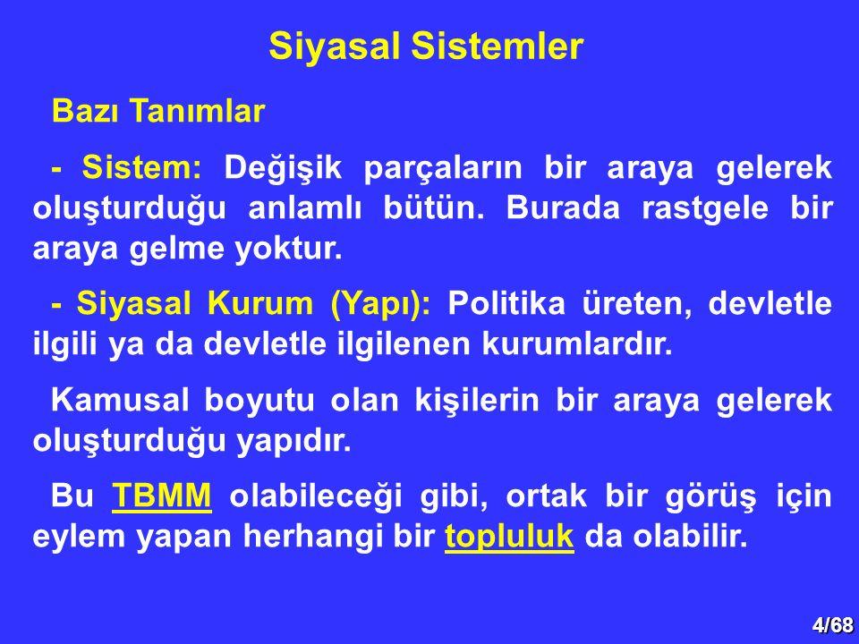 35/68 Siyasal Çoğulculuk Siyasal çoğulculuk, kamu politikalarının serbestçe üretilmesi ve serbestçe kişilere sunulmasıdır.