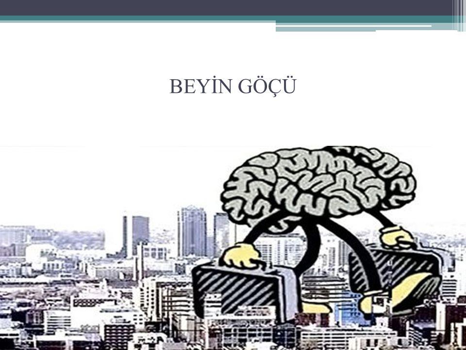 Uluslararası Göç Emek Göçü Beyin Göçü -Beyin bolluğu(taşması) -Beyin ihracı -Beyin değişimi -Beyin kurutma