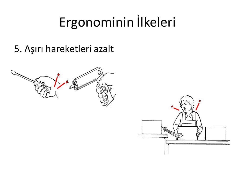 Ergonominin İlkeleri 5. Aşırı hareketleri azalt