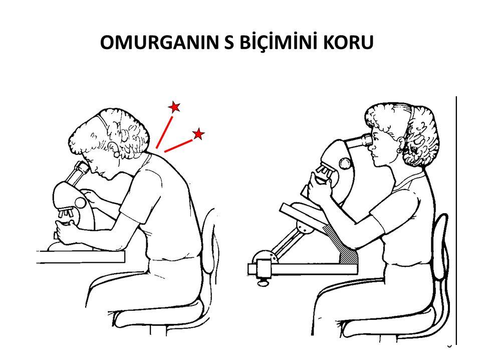 Çalışma sandalyesi Ergonomik gereksinimler için uygun sandalye seçimi gereklidir.