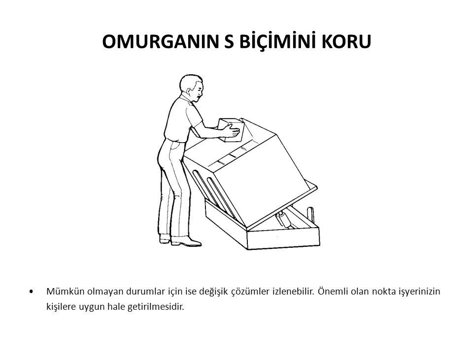 9 Günlük rutin işlerde bile omurganın S biçimini koruması basit temel hareketler ile sağlanabilir.