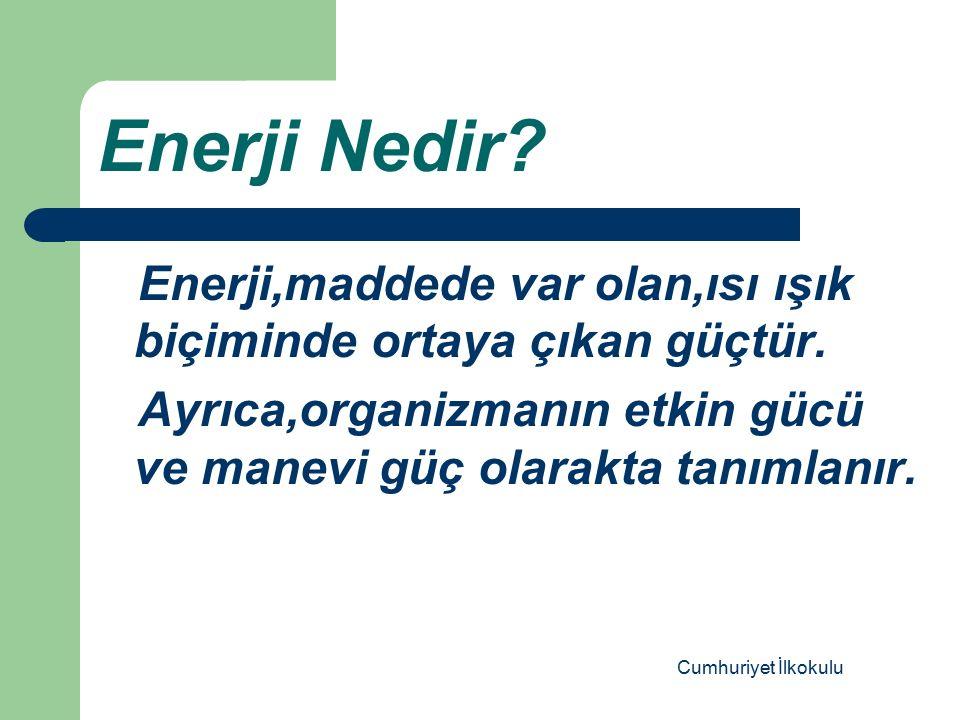 Enerji Tasarrufu Nedir.