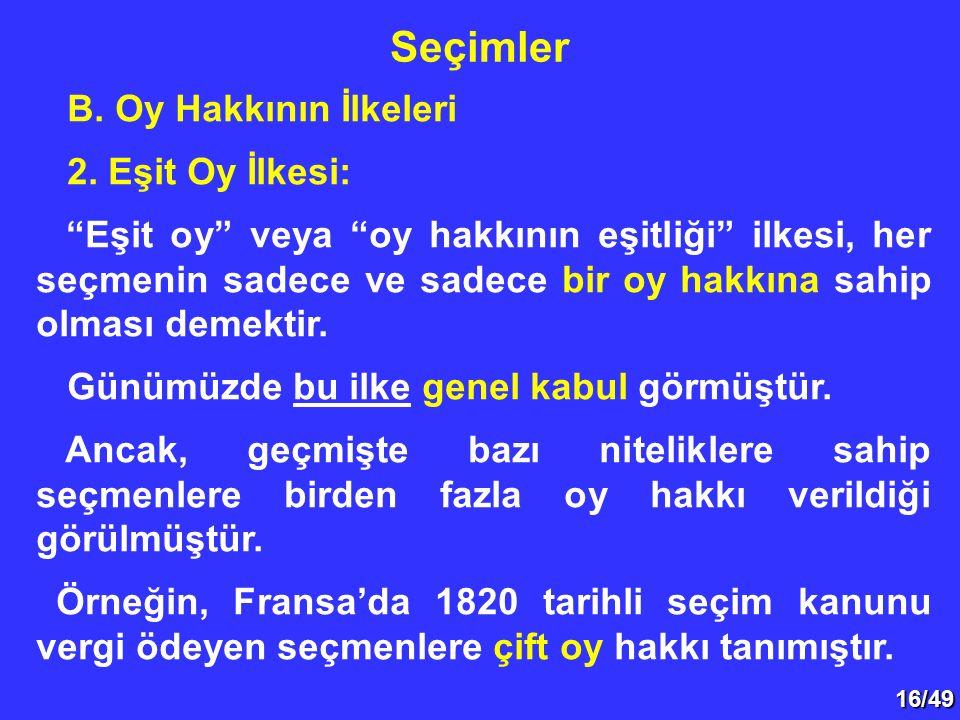 16/49 B.Oy Hakkının İlkeleri 2.