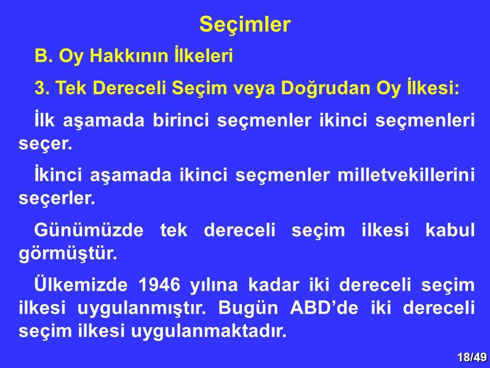 18/49 B.Oy Hakkının İlkeleri 3.