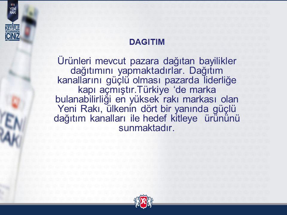 DAGITIM Ürünleri mevcut pazara dağıtan bayilikler dağıtımını yapmaktadırlar. Dağıtım kanallarını güçlü olması pazarda liderliğe kapı açmıştır.Türkiye