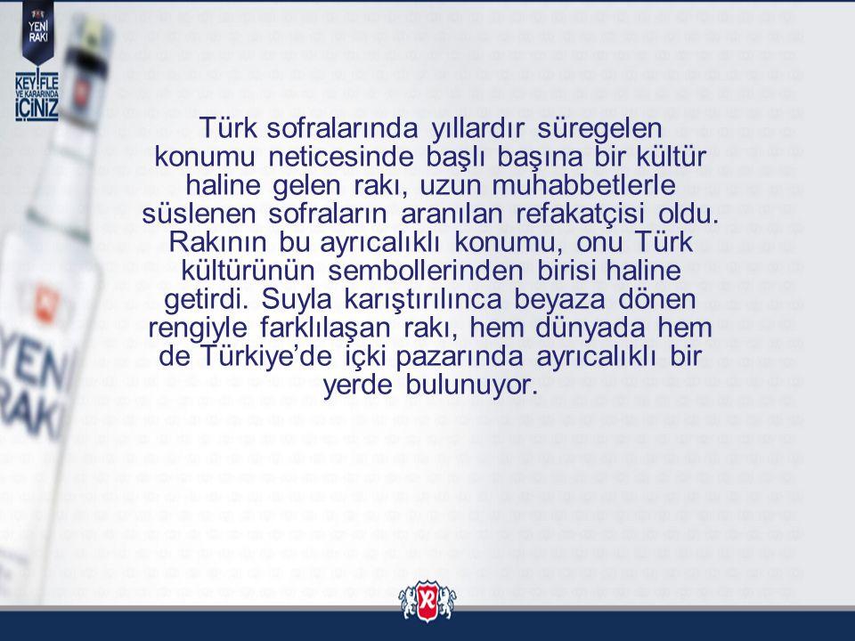 RAKİP ÜRÜN ANALİZİ Premium Rakip Efe Rakı %13'lük Pazar payı ile ikinci sırada.