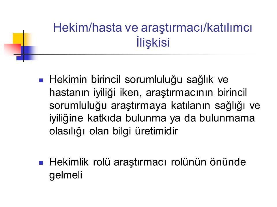 Yasal Dayanak Uluslararası belgeler Türk Ceza Kanunu Tıbbi Deontoloji Tüzüğü İyi Klinik Uygulamalar Kılavuzu Hasta Hakları Yönetmeliği Klinik Araştırmalar Yönetmeliği