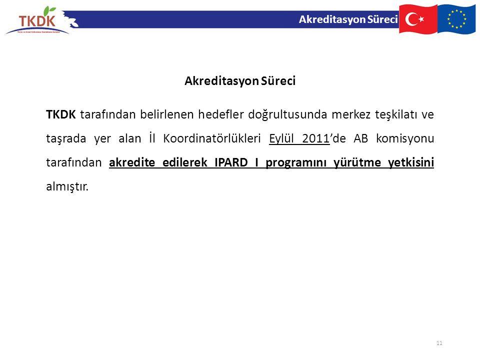 TKDK tarafından belirlenen hedefler doğrultusunda merkez teşkilatı ve taşrada yer alan İl Koordinatörlükleri Eylül 2011'de AB komisyonu tarafından akr