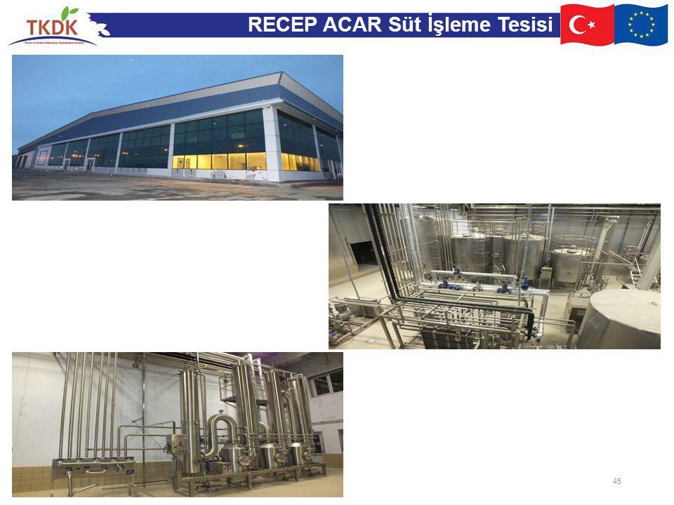 RECEP ACAR Süt İşleme Tesisi 45