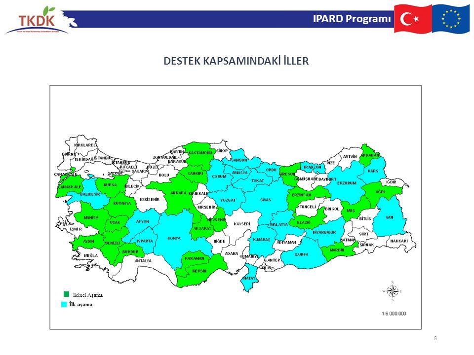 IPARD programı, Türkiye'nin katılım öncesi dönemdeki önceliklerini ve ihtiyaçlarını dikkate alarak, sürdürülebilir bir kalkınma için kapasite oluşturma hedefiyle; işletmelerin gıda güvenliğini, veterinerlik, bitki sağlığı, çevre ve diğer standartlarını AB standartlarına ulaştırmayı amaçlamaktadır.