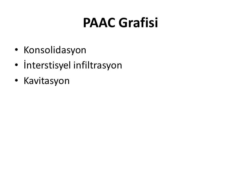PAAC Grafisi Konsolidasyon İnterstisyel infiltrasyon Kavitasyon