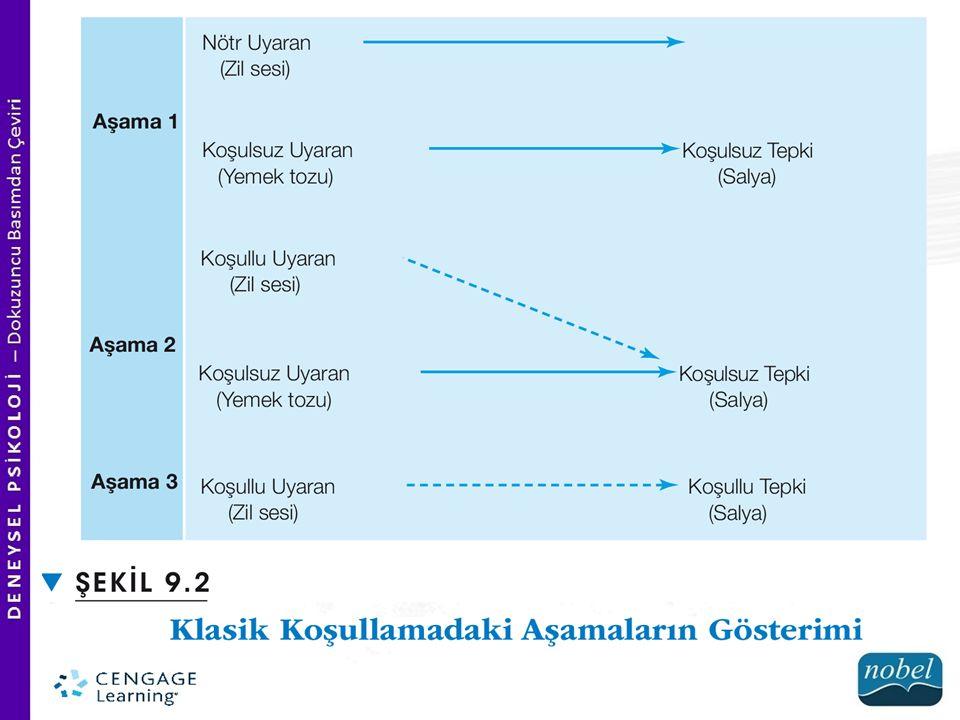 KOŞULLAMA TÜRLERİ  AB Deseni B aşamasında görülen davranış değişikliğini, yapılan müdahaleye bağlamak yanlıştır.
