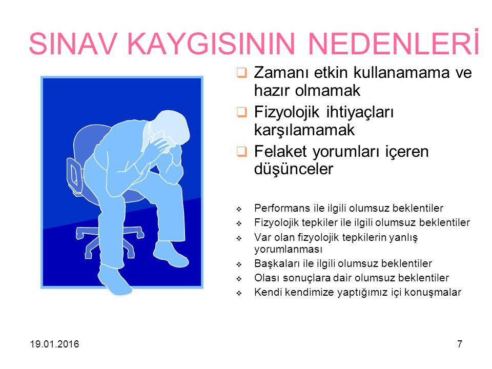 19.01.201618 SINAV KAYGINIZLA NASIL BAŞA ÇIKABİLİR SİNİZ.