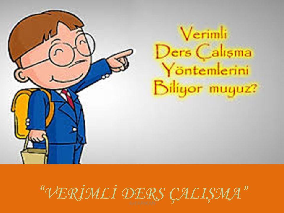 """"""" VERİMLİ DERS ÇALIŞMA"""" Arif ARIKAN"""